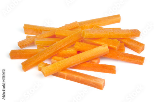 Carrot Sticks Isolated on White