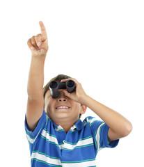 Boy and binoculars