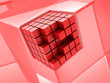 Red cubic