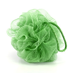 Green bath puff