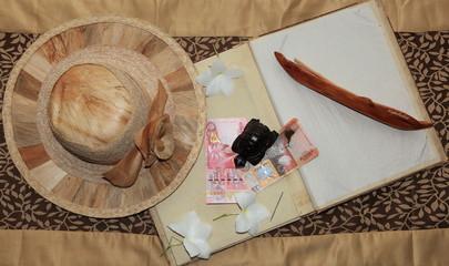 chapeau traditionnel et souvenir des seychelles