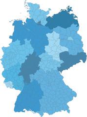 Kreiskarte von Deutschland