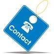 étiquette contact