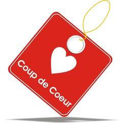 étiquette coup de coeur