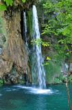 Fototapety Beautiful waterfall in Plitvice, Croatia