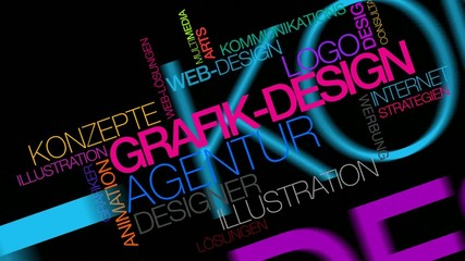 Graphik-design Animation Video schwarzem Hintergrund