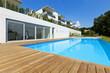 Leinwanddruck Bild - residence with swimming pool