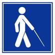 Señal simbolo ciego