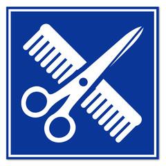 Señal simbolo peluqueria