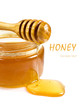 sweet honey in a glass jar