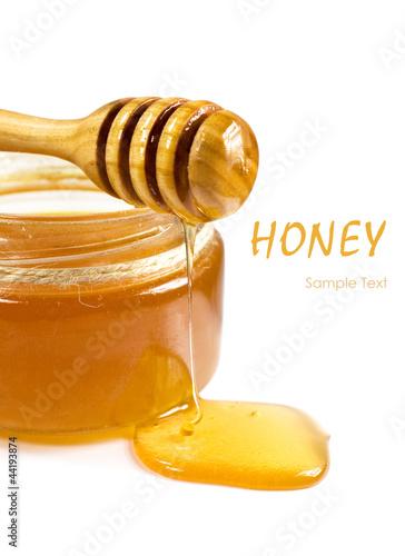 sweet honey in a glass jar