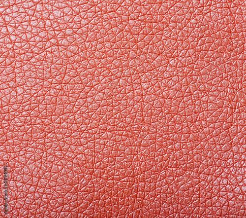 Staande foto Leder sample of orange leather upholstery