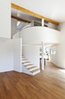 interior modern house, large open space with staircase