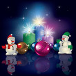 snowmen and Christmas decorations
