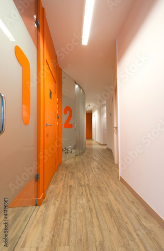 Dental clinic corridor