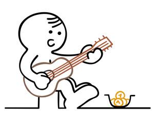 figur strassenmusikant