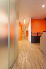 Reception and corridor, clinic