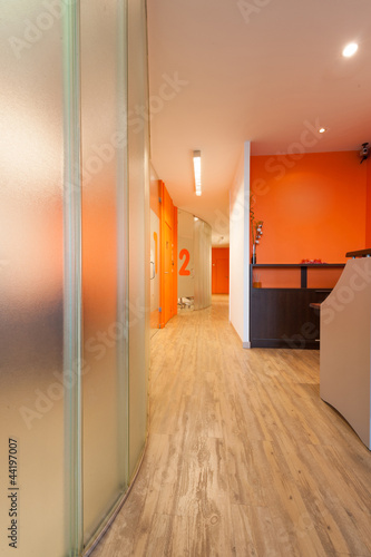 Reception and corridor, clinic