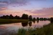 sunrise on river in Groningen