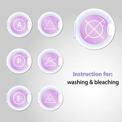 Button for bleaching