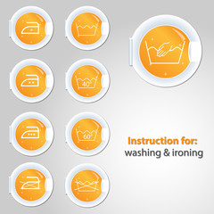 Button for washing & ironing