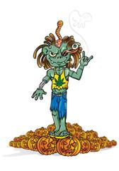 halloween Rastaman  zombie