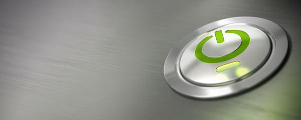 bouton marche arrêt d'un ordinateur, bannière