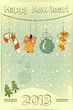Christmas retro postcard