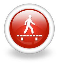 """Light Red Icon """"Walk On Boardwalk"""""""