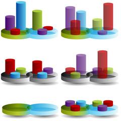 Venn Column Chart