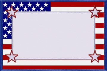 American Flag Material Frame