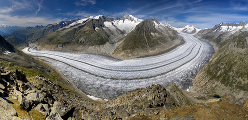 Aletsch glacier - Swiss Alps - Switzerland