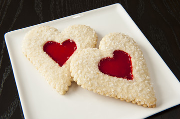 Two Valentines Cookies