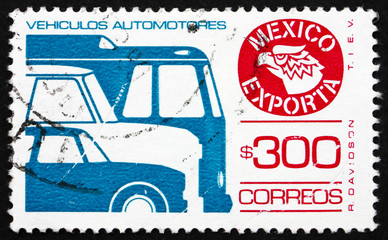 Postage stamp Mexico 1988 Motor Vehicle, Mexican Export