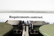 Requirement contract