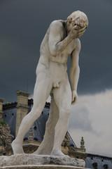 Mythological sculpture in a park of paris