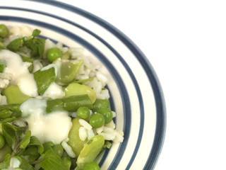 Pea Broad Bean and Asparagus Risotto