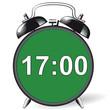 Leinwandbild Motiv Wecker - 17:00