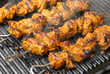 Indian Lamb Tikka Kebabs Cooking