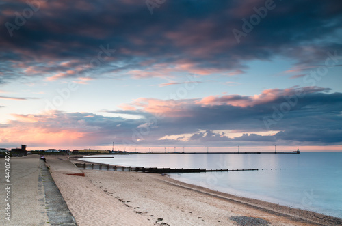Blyth harbour at sunset