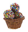 Donut holes in small basket