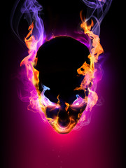 Halloween symbol Flaming head