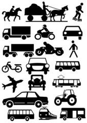 Icons Strassenverkehr