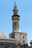 The Minaret of  Umayyad Mosque in Damascus, Syria.