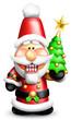 Whimsical Cartoon Santa Nutcracker