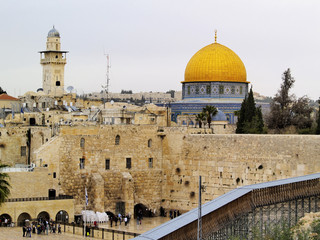 Wailing Wall and Al Aqsa Mosque, Jerusalem, Israel