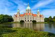 Leinwanddruck Bild - Rathaus Hannover im Sommer