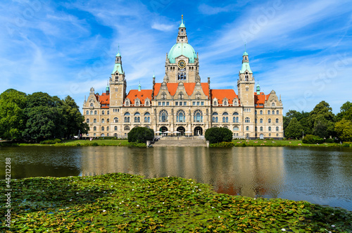 canvas print picture Rathaus Hannover im Sommer