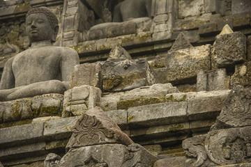 Buddha statue in Borobodur temple, Indonesia