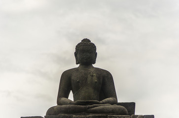 Buddha statue in Borobodur temple, Indonesia